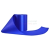 Unrolled spool of plain grand opening ribbon in royal blue .