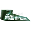 Alternative take of printed grand opening ribbon in green.