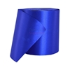 Rolled up spool of plain royal blue ceremonial grand opening ribbon.