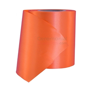 Plain orange grand opening ribbon roll.
