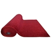 Semi-rolled up view of the deluxe red carpet runner.