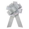 Silver colored giant sparking ceremonial event bow.