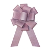 Soft shimmer light pink ceremonial bow.