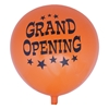 Main picture of orange 17 inch grand opening balloon with black font design.