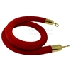 6 Ft red stanchion rope with polished brass ends.