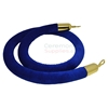 6 Ft Royal blue stanchion rope with brass metal finish.