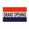 Graphic design art of standard grand opening flag.