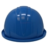 Rear view of light blue hard hat.