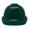 Front of green ceremonial groundbreaking hard hat.