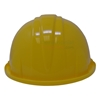Back View of bright yellow groundbreaking hard hat.