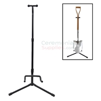 Image of a Groundbreaking Shovel Display Stand standing upright.