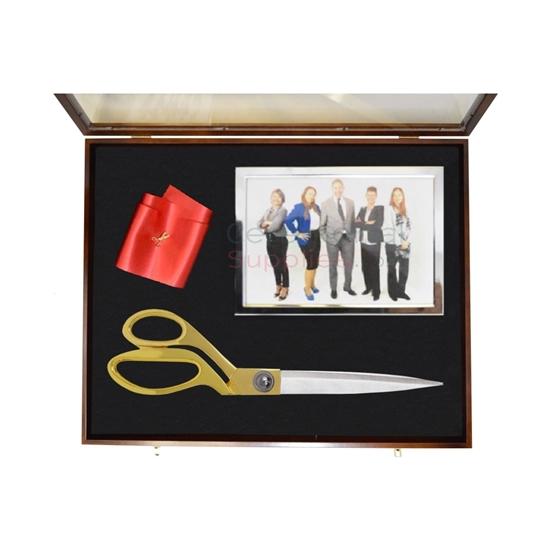 Photo of a Ceremonial Scissor Display Case For 10.5 Inch Scissor.