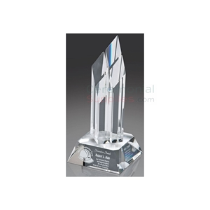 Photo of a Summit Business Award standing upright.