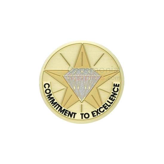 Image of a Commitment To Excellence Medal.