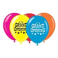 Arrangement of five 17 inch grand opening balloon set.