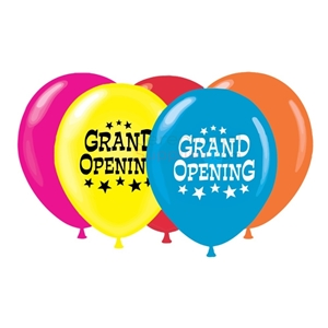 Arrangement of five 17 inch grand opening balloon set.