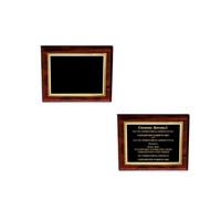 Blank and Personalized Sample Image of 10 X 8 Engraved Cherry Plaque