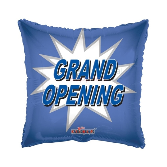 Picture of a 18 Inch Squared Grand Opening Balloon.