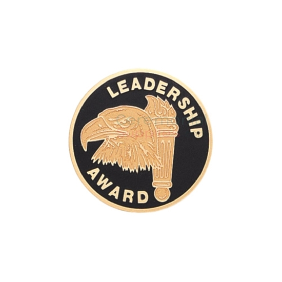 Image of the leadership award medal featuring an eagle and a torch