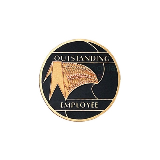 Image of an oustanding employee medal