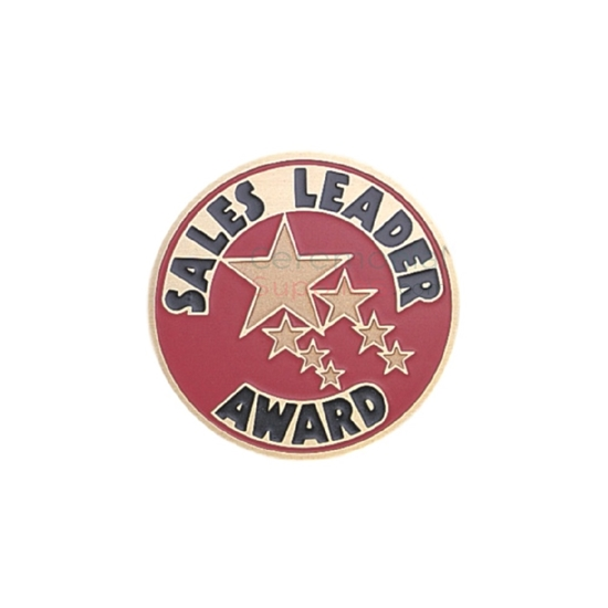Image of a Sales Leader Award medal with various size stars near the center.