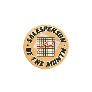 Picture of a Sales Person of the Month medal that shows a chart in the center.
