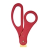 Custom ribbon cutting ceremony scissors with red handles.