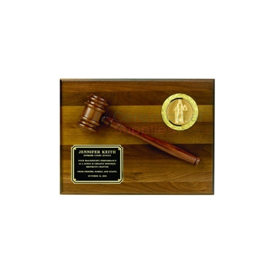 Image of the Honorary Gavel Plaque