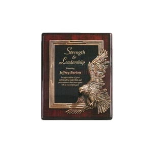 Photo of a Strength and Leadership Eagle Plaque.