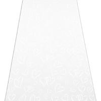 Photo of a Heart Print Wedding Aisle Runner.