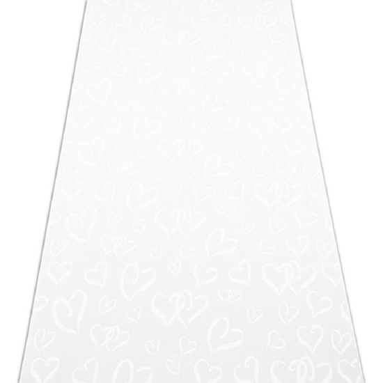 Photo of a Heart Print Wedding Aisle Runner.