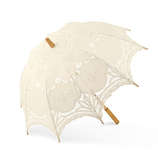 View of a Vintage Lace Parasol.