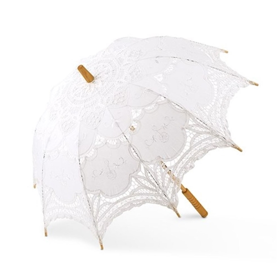 Picture of a Classic White Lace Parasol.