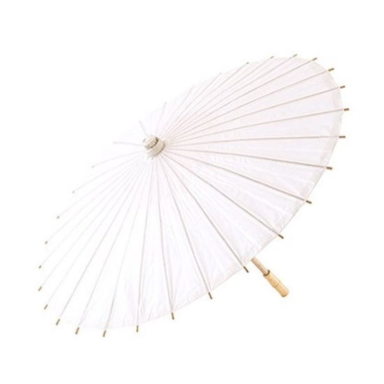 Image of a Summer Paper Parasol in White.