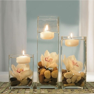 Image of a Floating Candlelight in bright room.