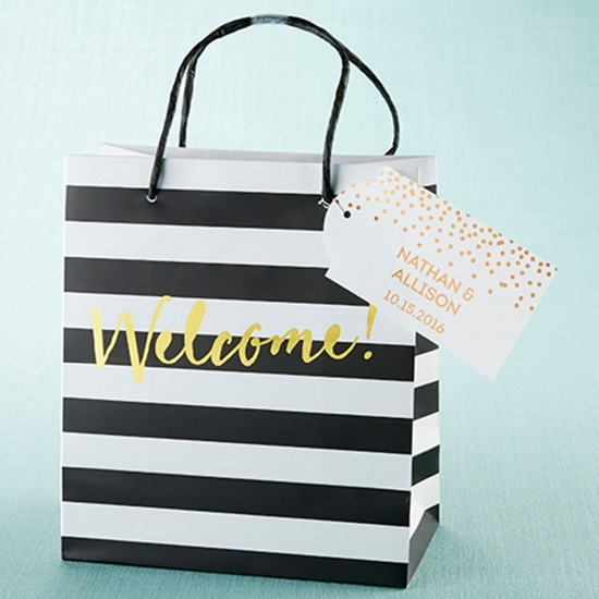 Photo of Classic Striped Welcome Bags.