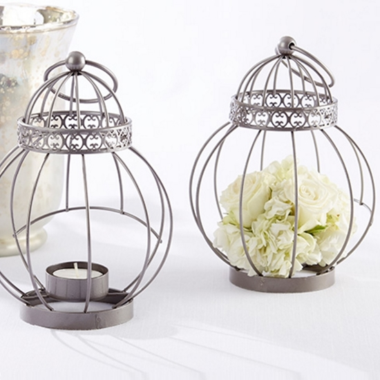 Picture of a Vintage Birdcage Tea Light Lantern.