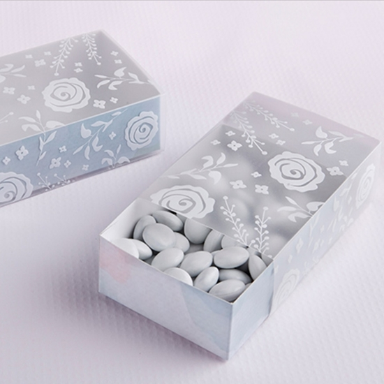 Top view of a Winter Frost Favor Box.