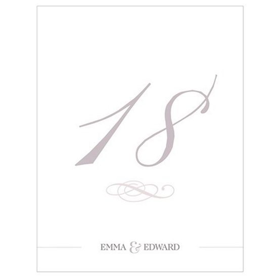 Picture of a classic table number card.