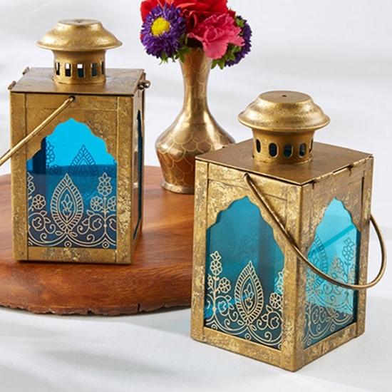 Image of two enchanted indian lanterns.