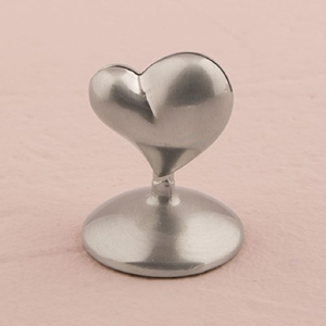 Picture of a Silver Heart Stationery Holder.