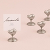 Photo of a Silver Heart Stationery Holder set.