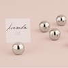 Image of a Silver Sphere Stationery Holder set.