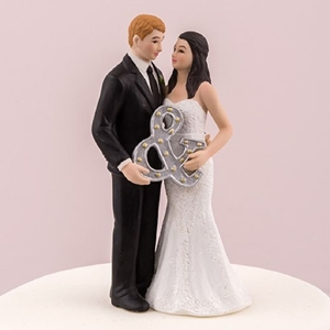 View of a Mr & Mrs Figurine Cake Toppers.