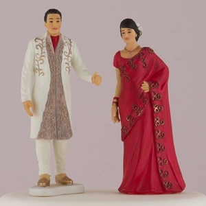 Photo of a Wedding Talk Indian Bride and Groom Cake Topper.