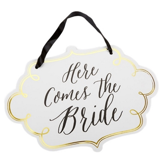 Image of a Here comes the Bride Sign.