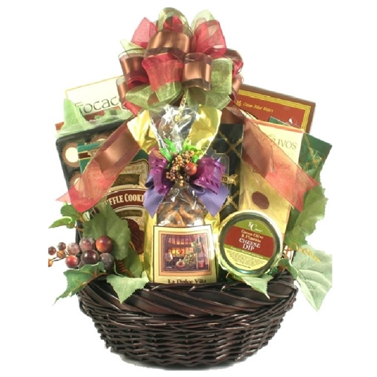 Photo of a Tuscan Thanks Italian Gift Basket.