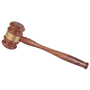 Image of a Wooden Ceremonial Gavel.