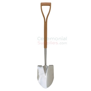 Picture of a Polished Steel Groundbreaking Ceremonial Shovel.