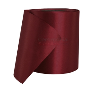 Full roll of Burgundy Ceremonial Grand Opening Ribbon